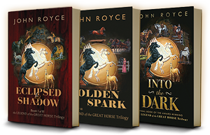The 3 books of the Legend of the Great Horse trilogy