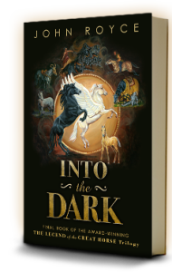 Cover of INTO THE DARK: The Legend of the Great Horse trilogy (Book 3)