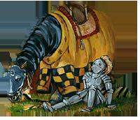 Knight Henryk's horse Chouchou